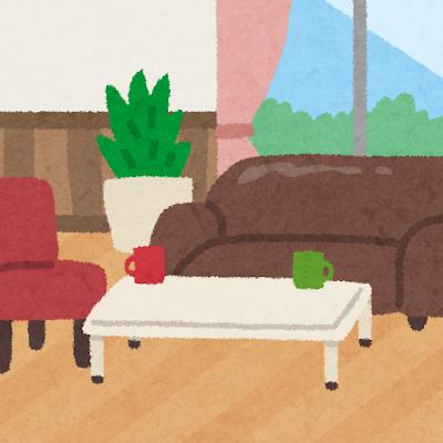 洋室のイラスト(室内風景)