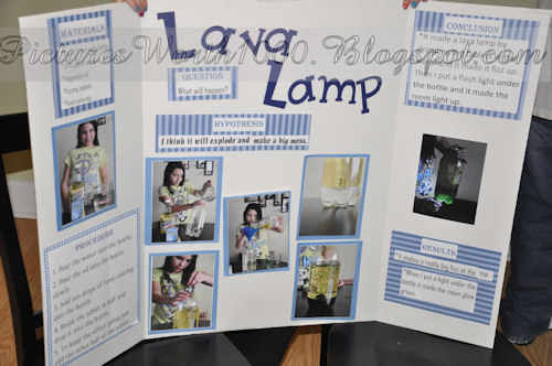 Pictures Worth 1000: February 2012 Homemade Lava Lamp Science Fair Project