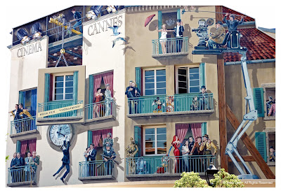 actors mural cannes south of france
