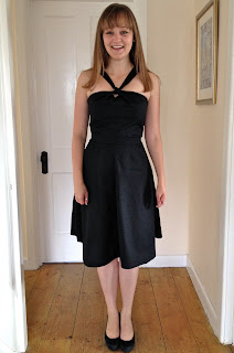 Diary of a Chainstitcher Black Cotton Sewaholic Lonsdale Dress sewing pattern