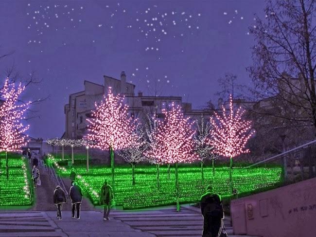 Декабрьский фестиваль света в Лионе, Франция