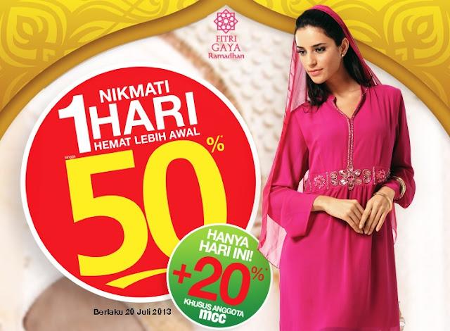 Promo Harian Matahari Terbaru Hemat 50%+MCC 20% Berlaku 20 Juli 2013