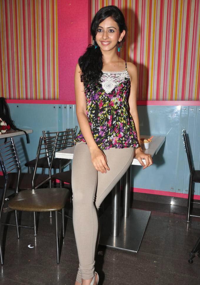 Rakul Preet Singh in white tight jeans pants panty visible latest hot pics hd