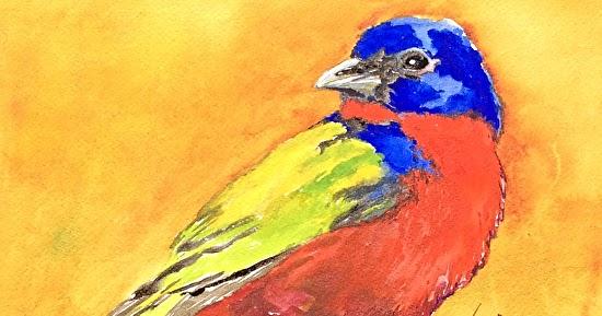 Pat Warren Fine Art Original Bird Art PaintingPainted
