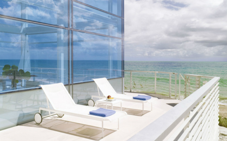modern beach house deck