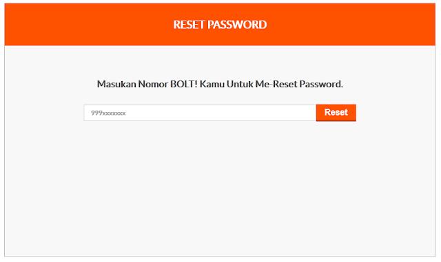 Solusi Lupa Password Login Modem Bolt