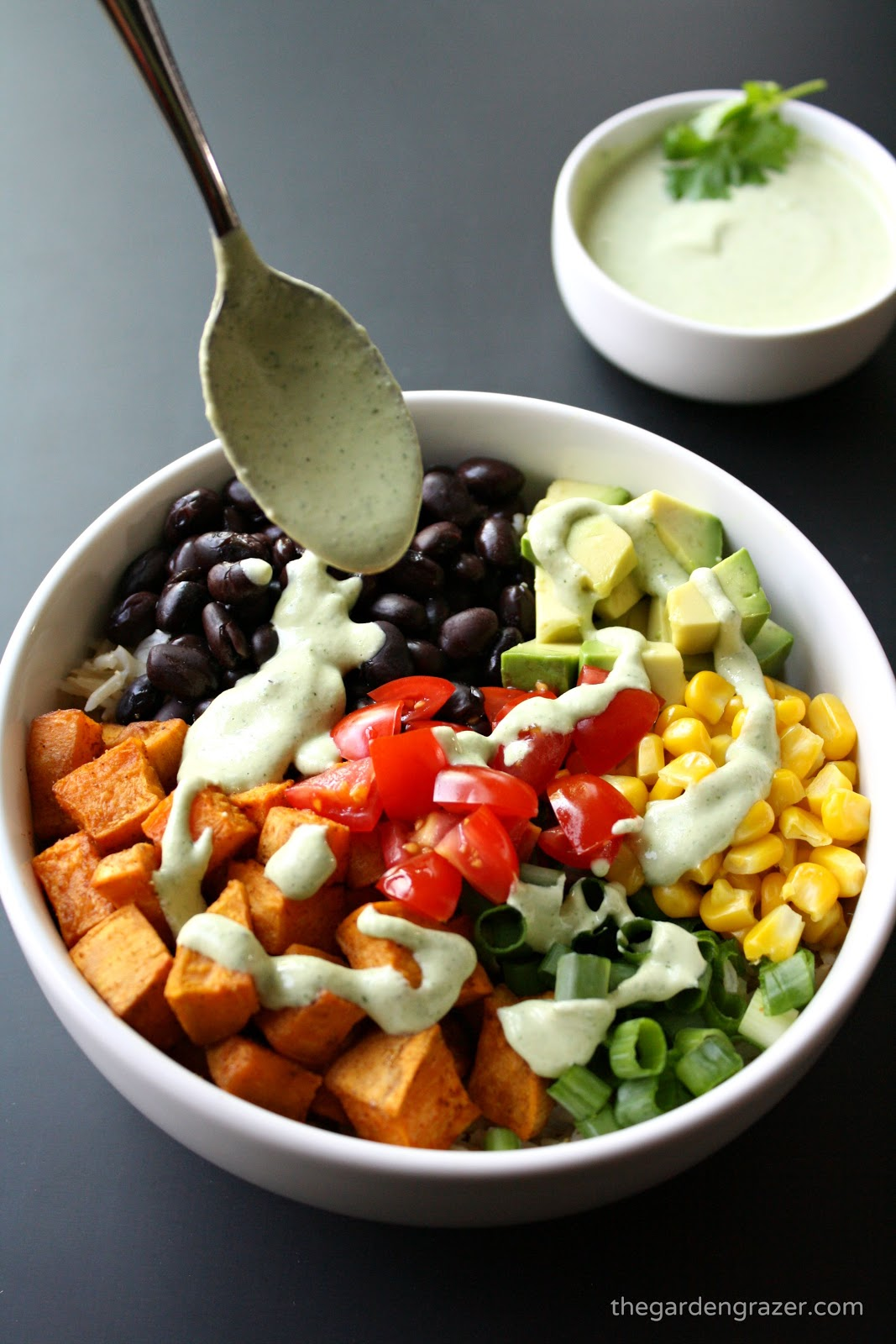 Mexican Sweet Potato Bowl With Cashew Lime Cream
