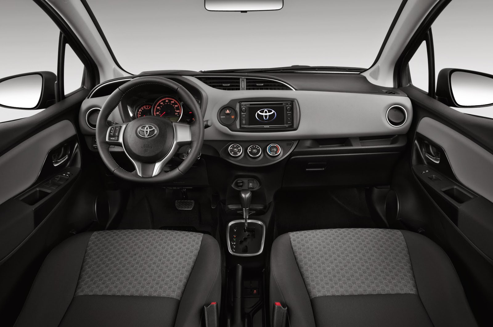 Interior view of 2015 Toyota Yaris