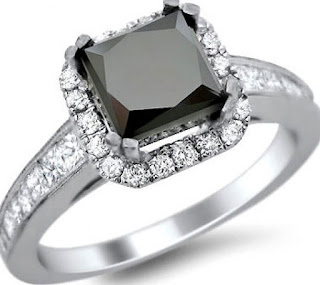 The ring is a extremely comprehensive princess cut black diamond engagement rings