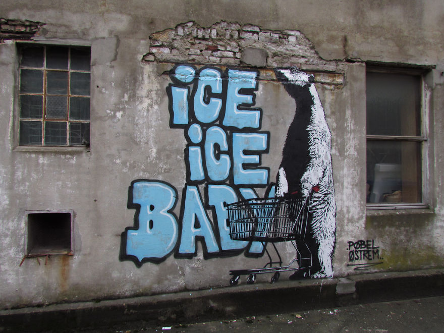 These 30+ Street Art Images Testify Uncomfortable Truths - Ice, Ice Baby