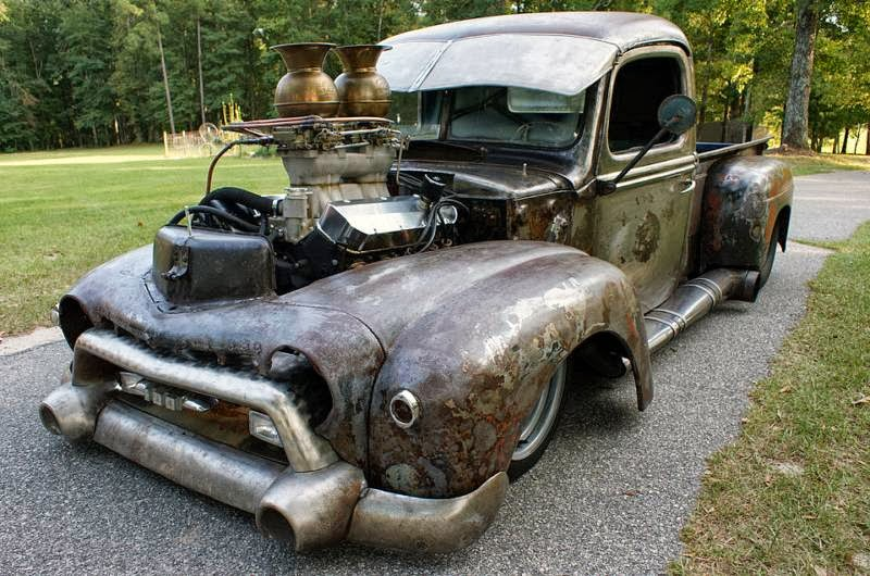 Very Cool Rat Rod Pro Street Truck With Spittoons For