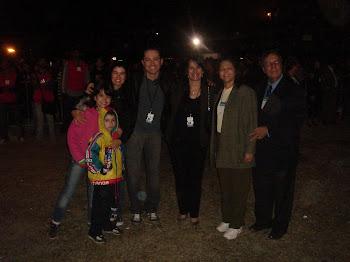 Marta Lança, Pr. Lucinho e família( Patrícia , Emili e Davi) , Pr.Vandercy (Alfatur) e esposa