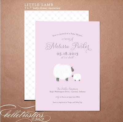 printable diy little lamb sweet girl boy baby shower invite invitation