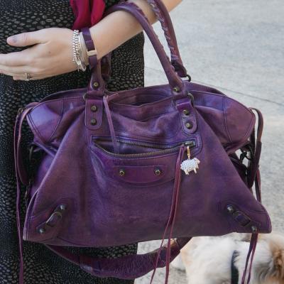 away from blue purple sapphire balenciaga city bag