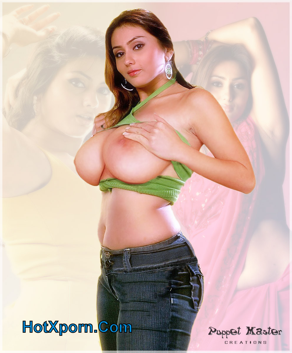 Hot South Actress Namitha Showing Her Big Boobs Fake