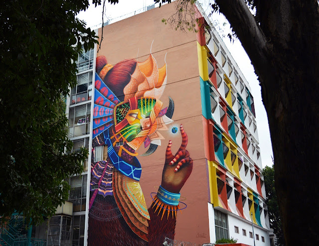 """Quetzen-tul con una canica más"" Fantastic New Street Art Mural By Curiot On The Streets Of Mexico City."