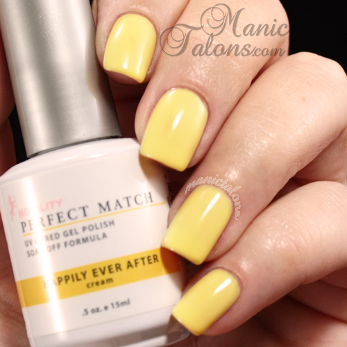 LeChat Perfect Match Gel Polish Swatch Happily Ever After