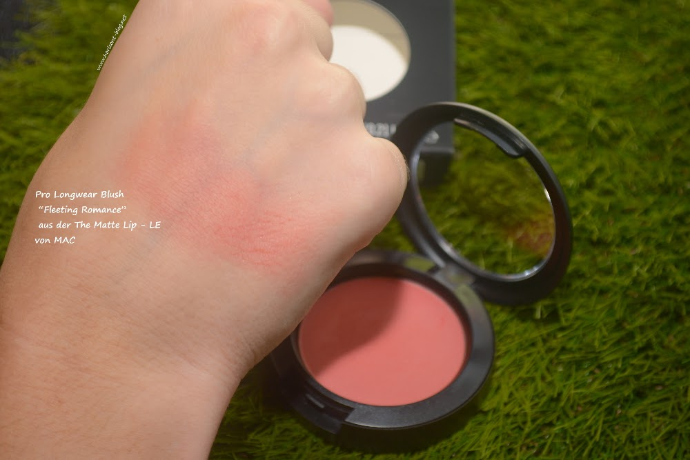 "Swatch vom Pro Longwear Blush ""Fleeting Romance"" aus der The Matte Lip - LE von MAC"