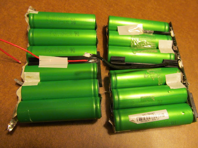 12 Harvested Lithium-ion 18650 Cells, Partially Separated