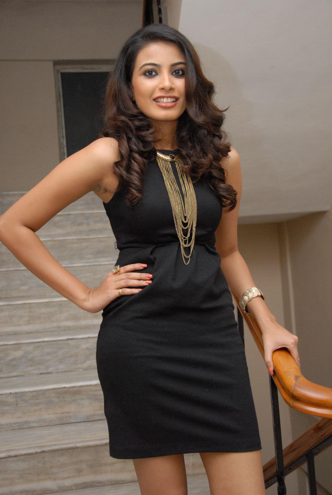 Kavya M Shetty Stills in Black Mini Dress at Sivani Movie ...