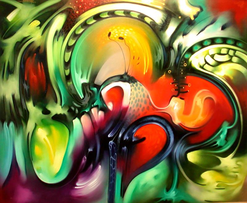 Cuadros pinturas oleos bonitos abstractos modernos for Cuadros bonitos y modernos
