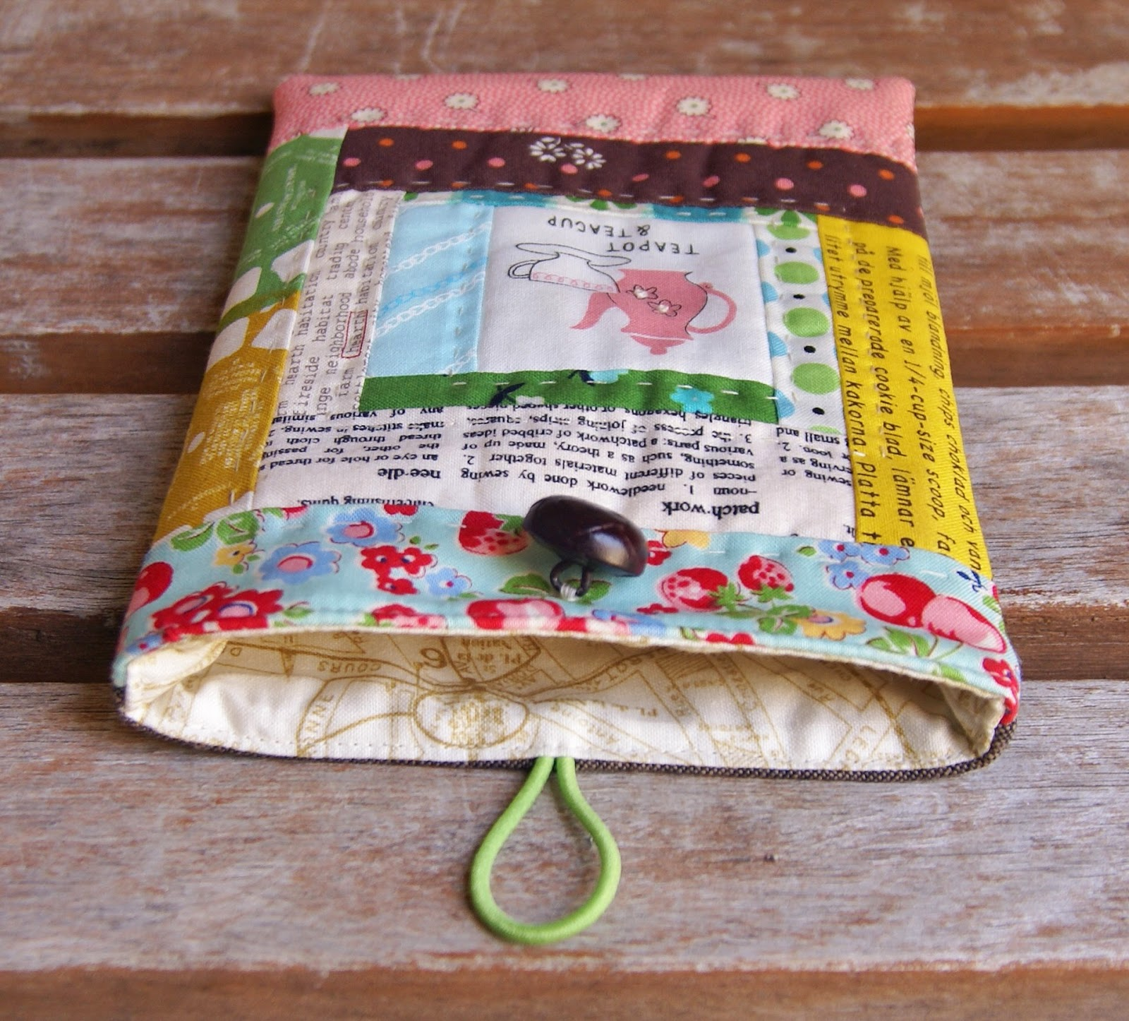 Patchwork Kindle Sleeve by Heidi Staples of Fabric Mutt