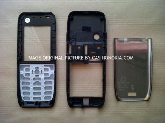 Casing Nokia E51 Hitam Silver