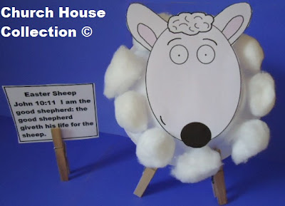 ... House Collection Blog: Easter Sheep Cotton Ball Bowl Craft- John 10:11