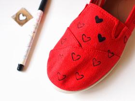 randomly stencil on your hearts