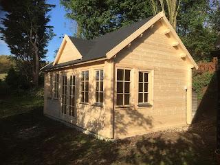 Borneo log cabin