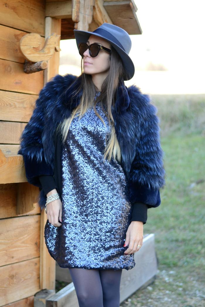 pelliccia blu