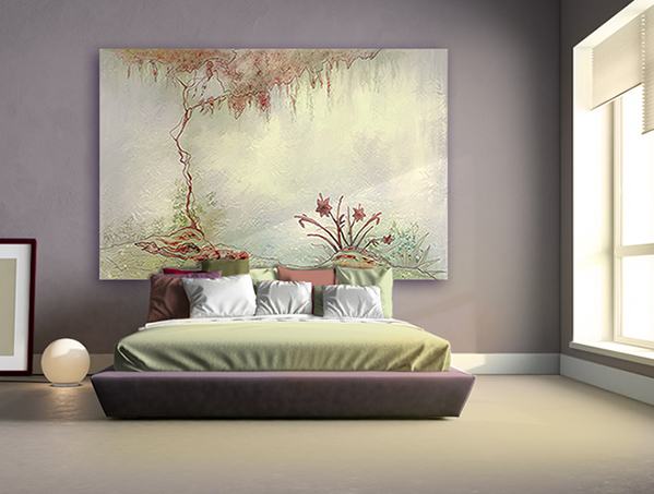 tableau peinture zen interesting tableau triptyque compo zen bambous nnuphar galets with. Black Bedroom Furniture Sets. Home Design Ideas