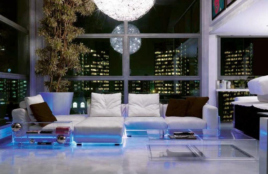éclairage LED salon