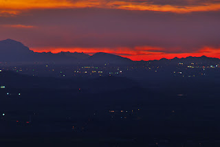 Phoenix Arizona Cityscape Closeup at Sunset