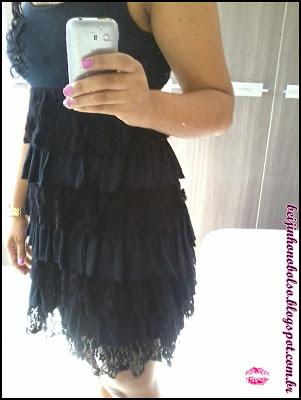 Look do dia: Vestido preto e rasteirinha
