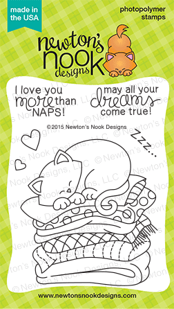 Newton's Naptime 3x4 photopolymer stamp set | Newton's Nook Designs