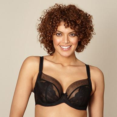Seduction by Gorgeous from Debenhams Black Lace Balcony Bra up to H cup