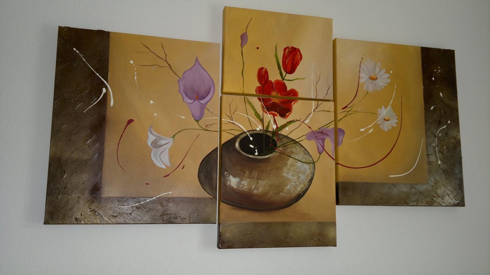 Immagini quadri moderni fiori for Amazon quadri