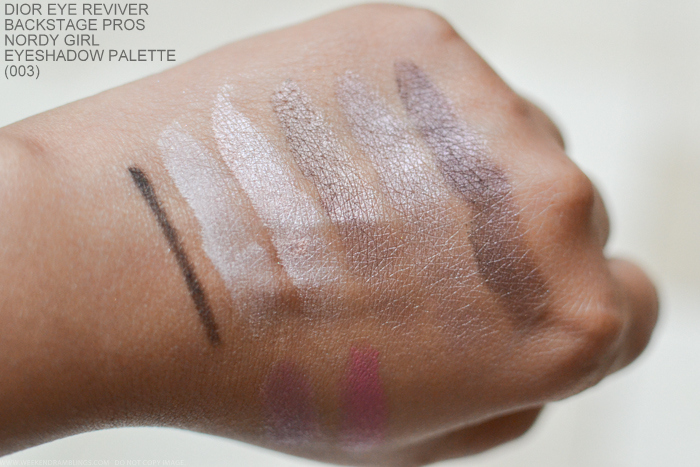 Dior Eye Reviver Illuminating Neutrals Eyeshadow Palette Backstage Pros Rosy Nordy Girl 003 Swatches