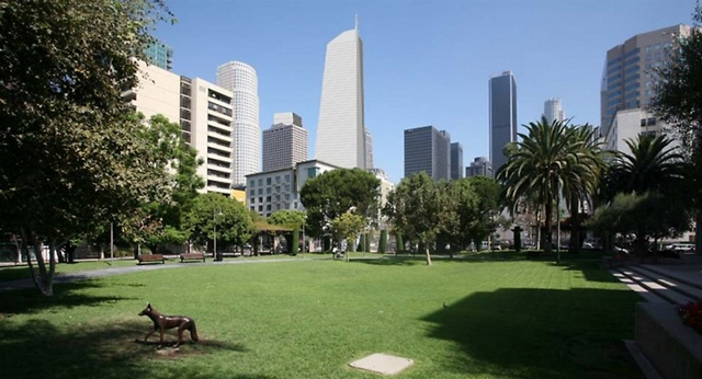 Rendering of Wilshire Grand by AC Martin Partners, Los Angeles, USA and Los Angeles skyline