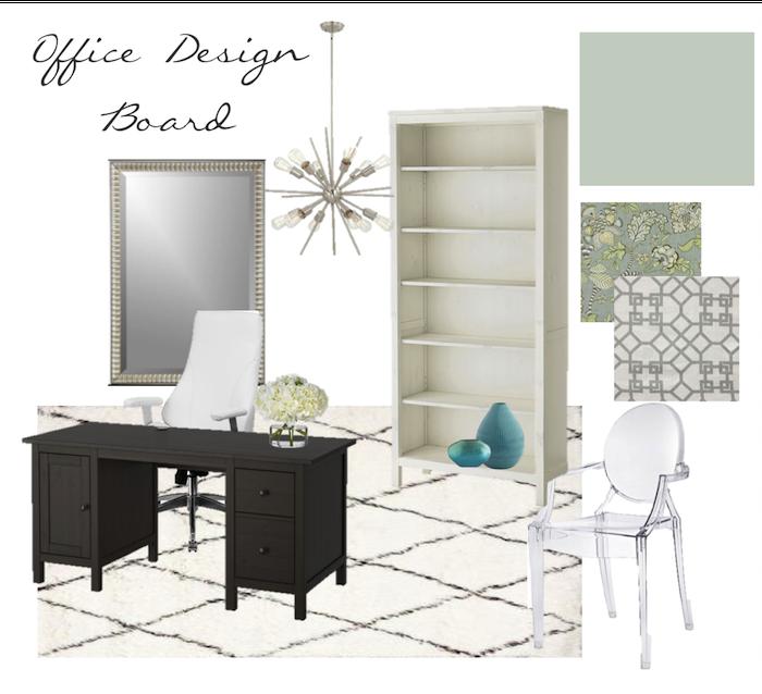 It\'s A Grandville Life : Office Chandelier & Design Board