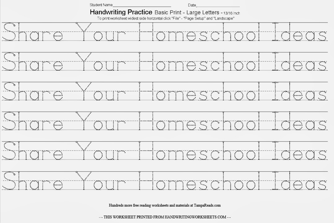 Amazing Handwriting Worksheets | Hand Writing