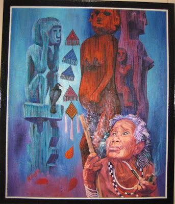 Tác phẩm hội họa về đề tài Tây nguyên 10