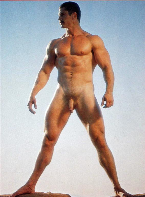 Body builders showing cock