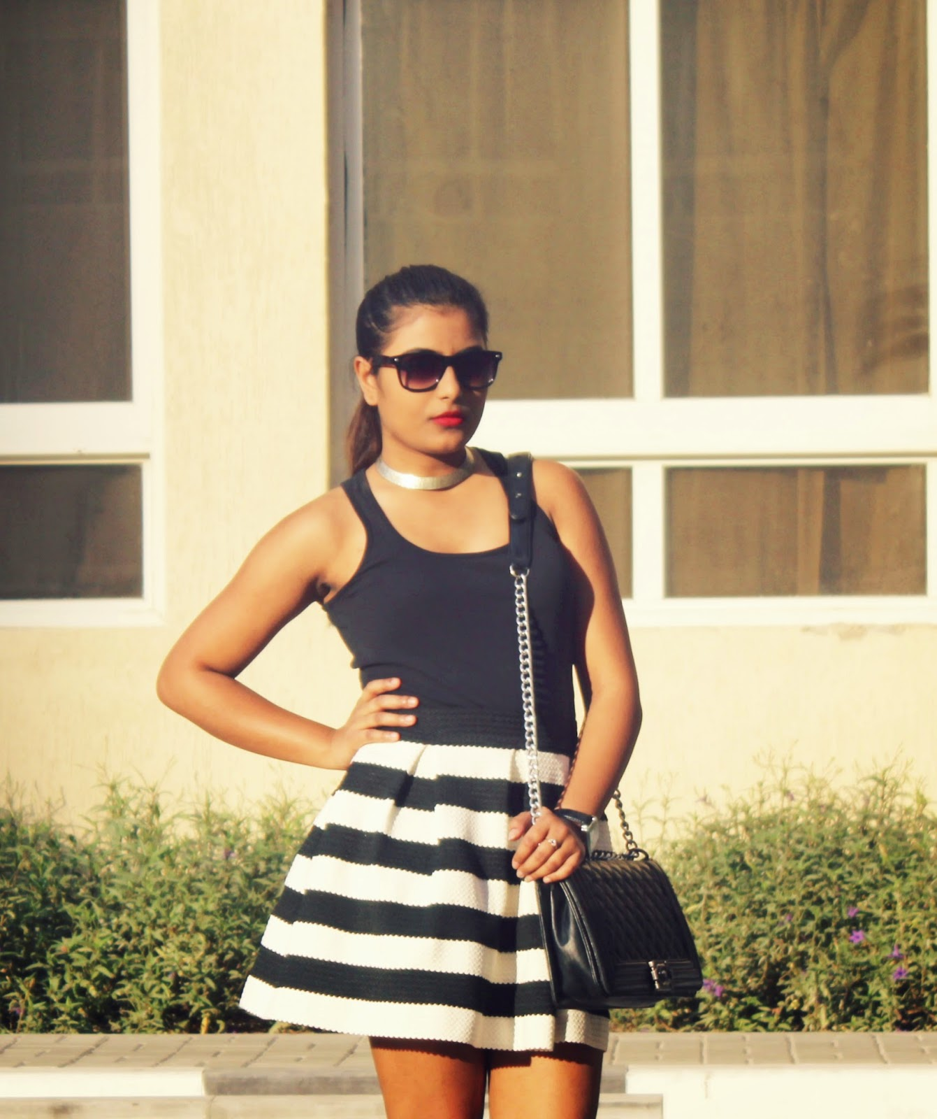 kajol paul, fashion blogger, dubai fashion blogger, style blogger, the style sorbet, fashion blog, dubai, style, fashion, street style, forever 21, skirt, heels, shoes, outfit, trend, chic, chanel, bag, outfit inspiration