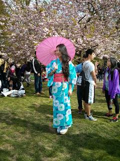 Young lady wearing Yukata Kimono from Kimono House NY