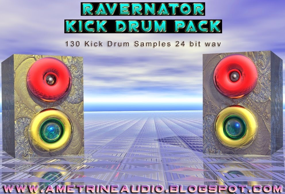 The cover art for the Ravernator kick drum sample pack