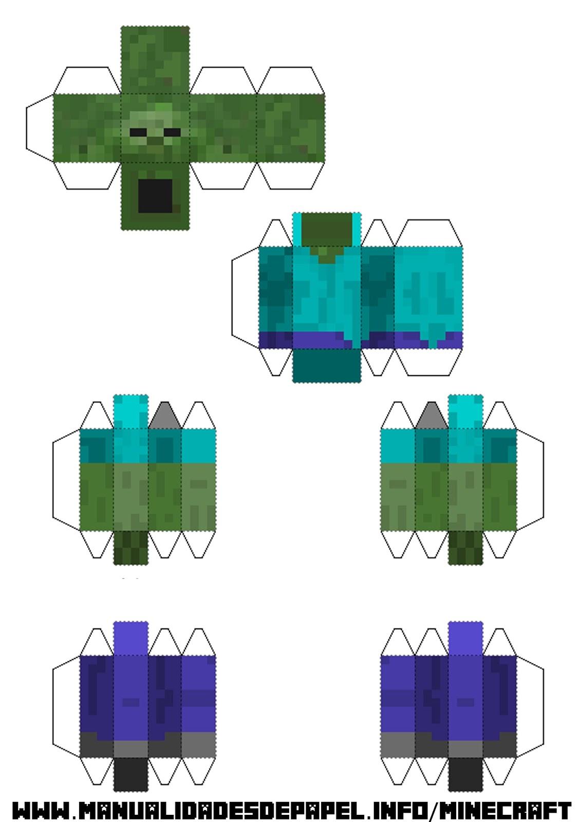 Как сделать стива из бумаги minecraft