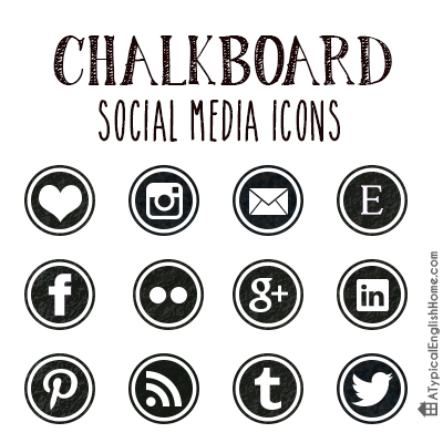 A Typical English Home Chalkboard Social Media Icons