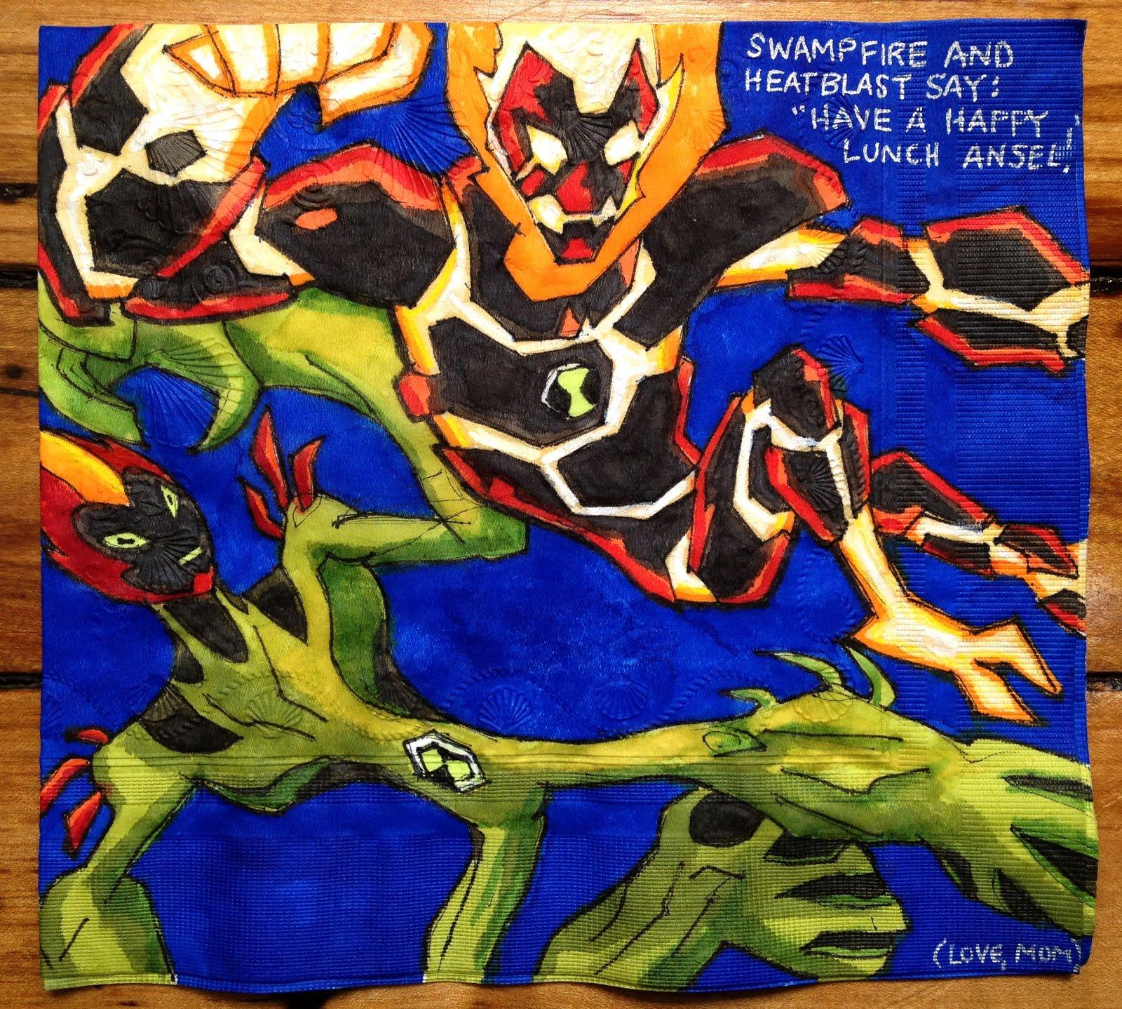 Daily Napkins: Heatblast & Swampfire
